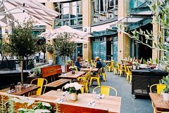 Covent Garden Italian Meal with Alfresco Dining Christmas Party in London